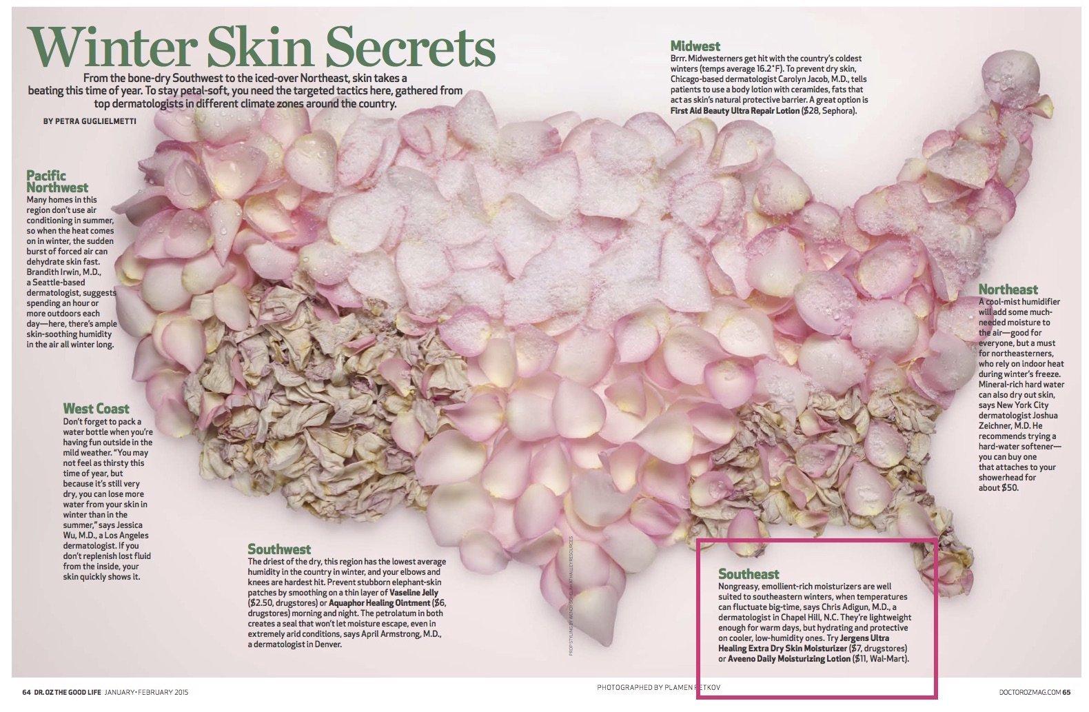 2015 0101 Droz Winter Skin Map Dermatology Laser Center Of Days Beauty Water